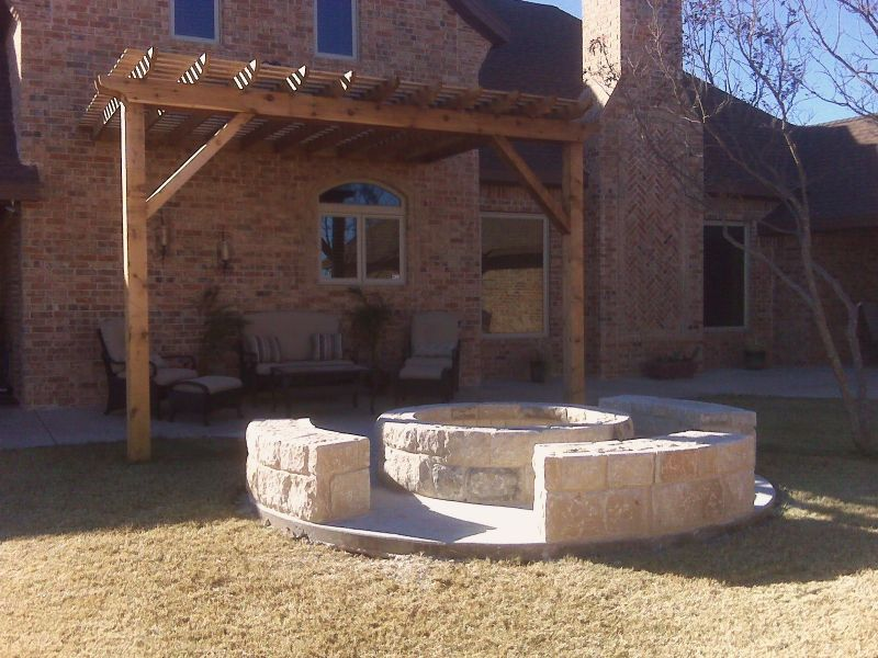 Yard Landscaping Pictures & Ideas: West TX Fire Pit